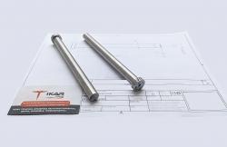 Толкатель, размеры 170 мм х 14 мм, шероховатость Ra 1.6, твердость 52 HRC