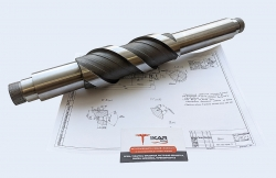 Вал из стали 40Х, длина 450 мм, твердость 24-29 HRC